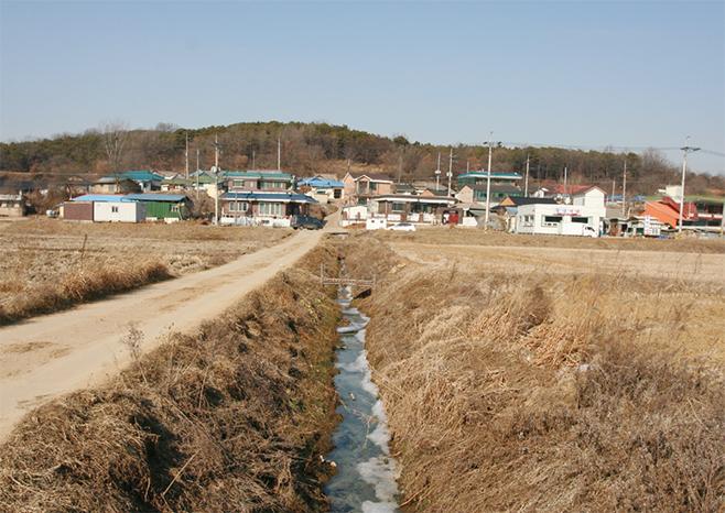 조선시대 양성현의 해창이었던 삼계2리 옹포(2008)